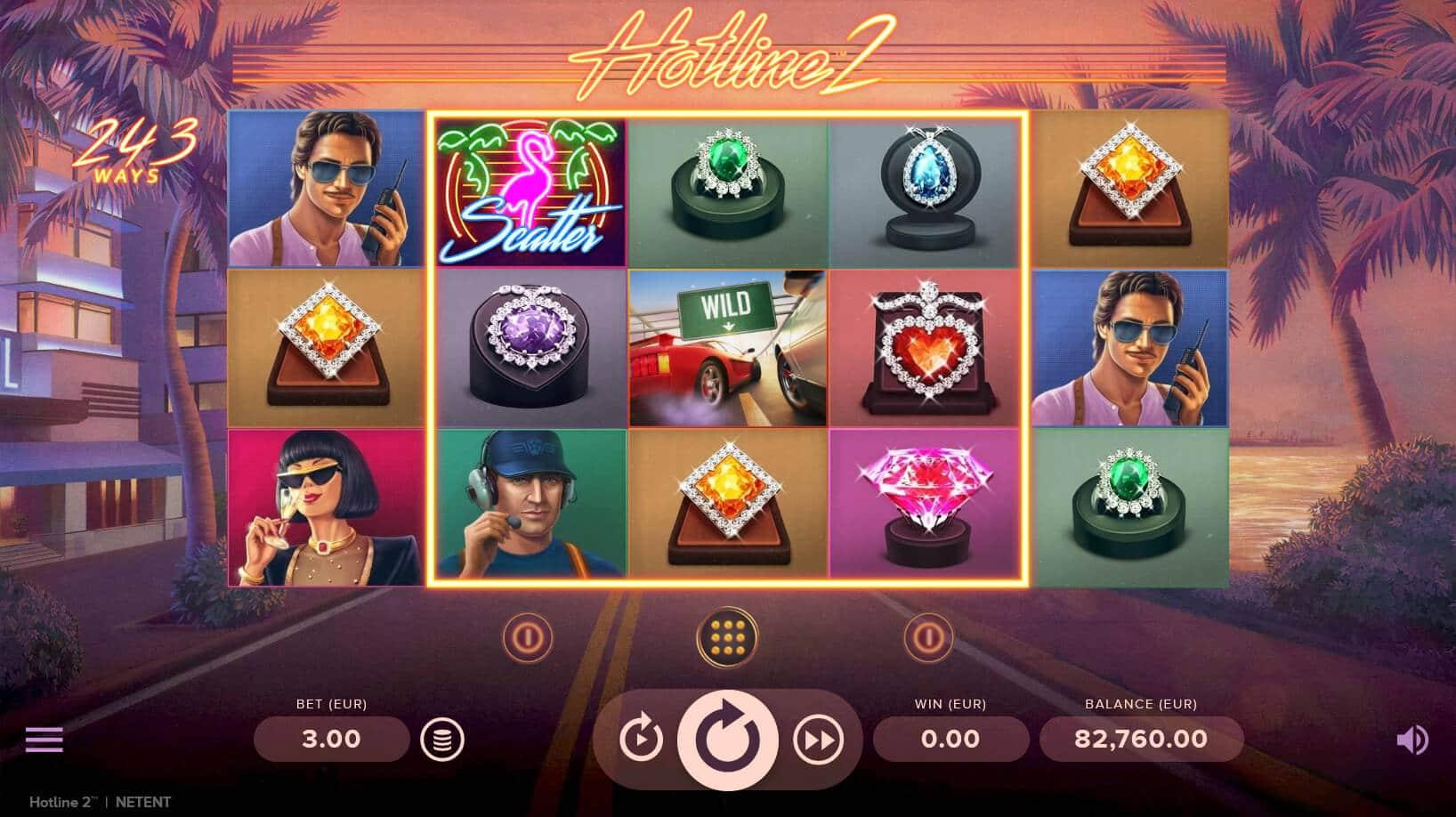hotline 2 slot bonus game